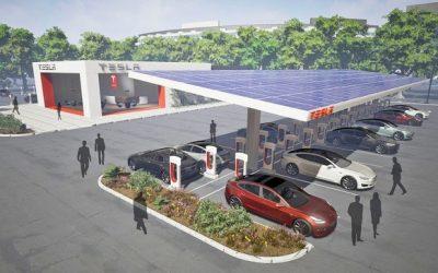 Los superchargers de Tesla funcionarán 100% con energía solar